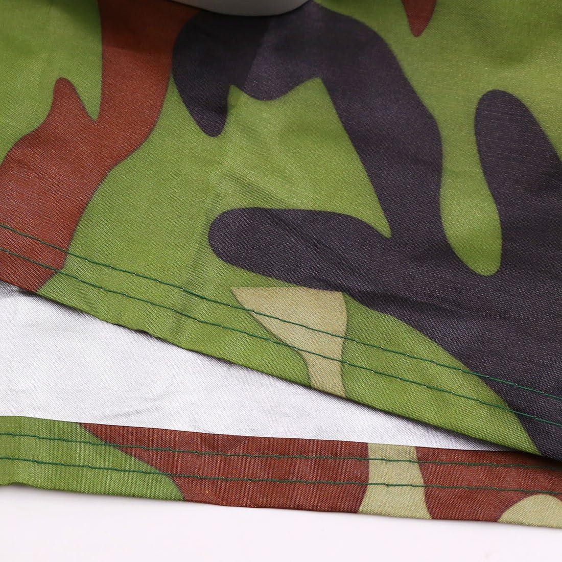 Couleur: Camouflage Housse de Protection B/âche pour Moto Scooter Couverture Etanche Imperm/éable en Polyester 190T prot/ège votre moto de la pluie Taille: XXXL poussi/ère Rayon UV