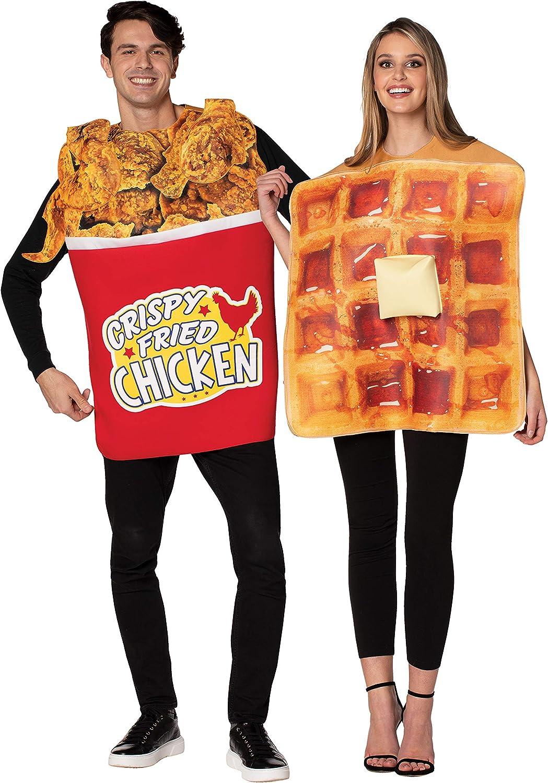 Rasta Imposta Bucket of Chicken and Waffle Couples Costume