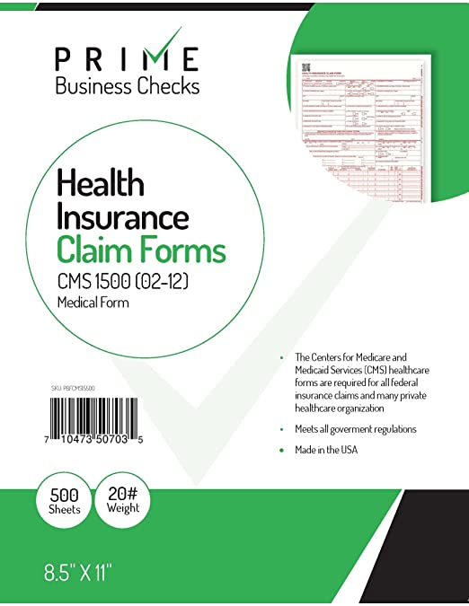 "Amazon.Com : Cms 1500 Claim Forms ""New"" Hcfa (Version 02/12"