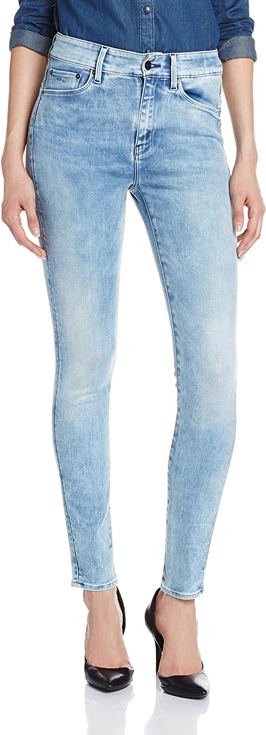 TALLA 32W / 32L. G-STAR RAW 3301 Ultra High Waist Super Skinny Vaquero Mujer