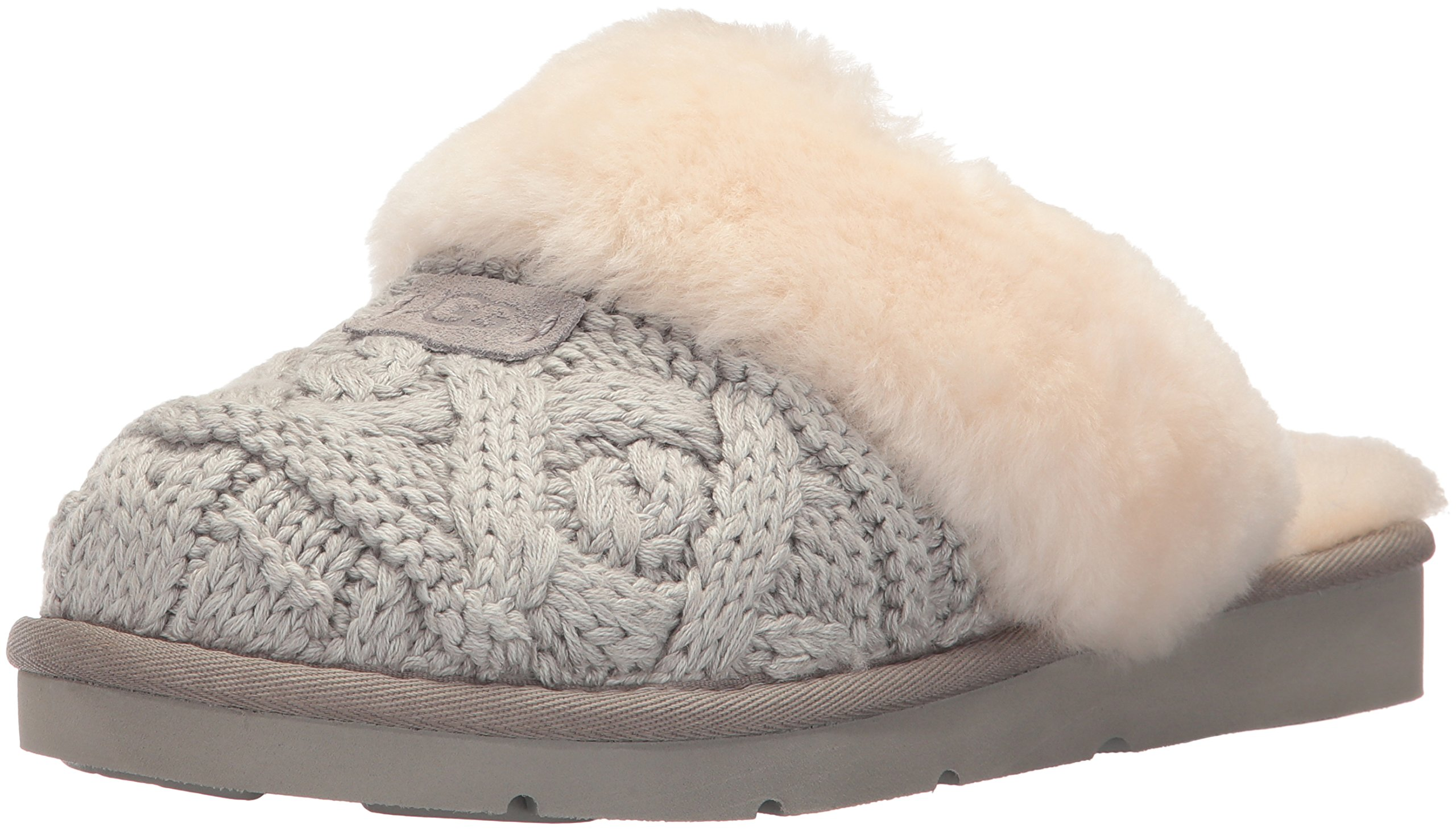 UGG Women's Cozy Cable Ankle Bootie, Seal, 9 M US
