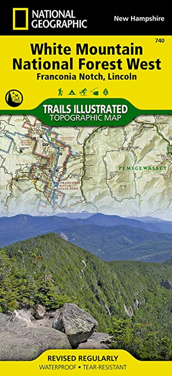 National Geographic NAT GEO Franconia Notch Map