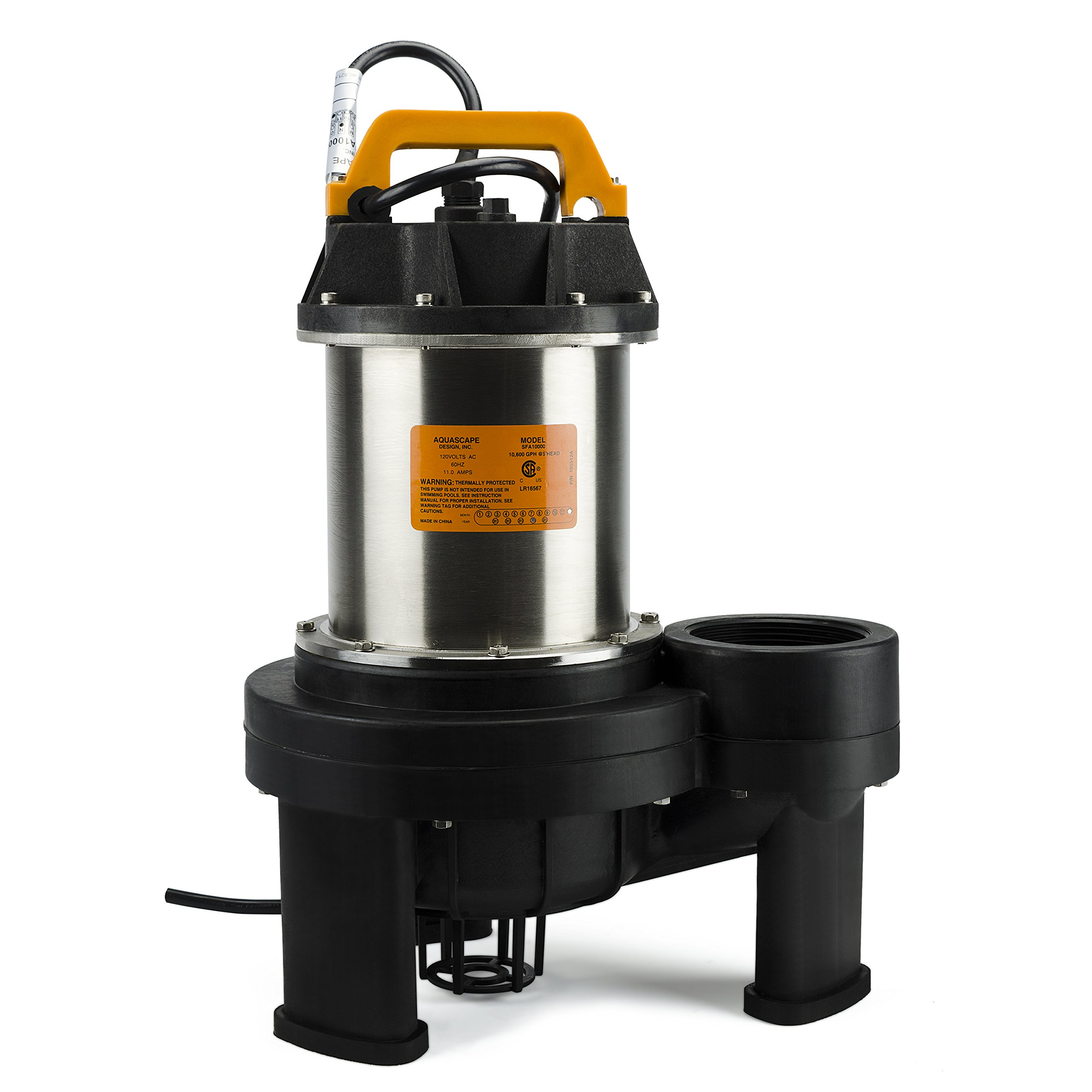 Aquascape 20006 AquascapePRO 10000 Submersible Pump for Ponds, Skimmer Filters, and Pondless Waterfalls, 10,600 GPH