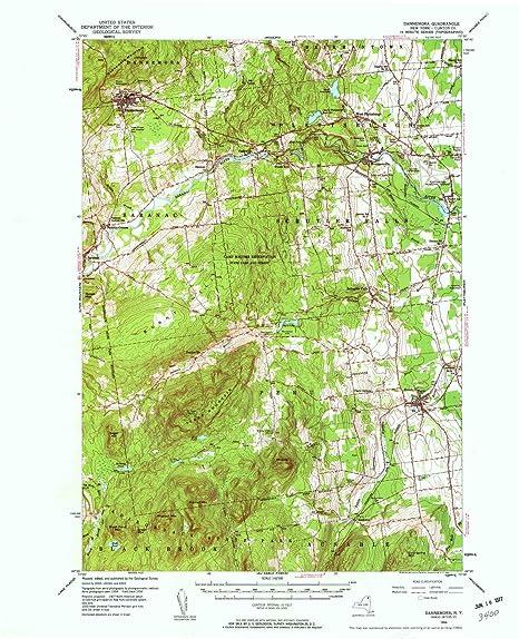 Map Of New York Dannemora.Amazon Com Yellowmaps Dannemora Ny Topo Map 1 62500 Scale 15 X 15