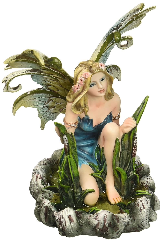 "Major-Q G8091848 6.5"" Blue Water Fairy Statue Figurine Home Decor Sculptures Polyresin"