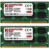 Komputerbay 8GB (2x 4GB) DDR3 SODIMM (204 pin) 1333Mhz PC3 10600 per Apple 8 GB (9-9-9-25)