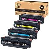 CMYBabee 4-Pack Compatible Toner Cartridge 410X CF410X CF411X CF412X CF413X (1B/1Y/1C/1M) High Yield for HP Color LaserJet Pro M452dn M452nw M452dw,MFP M477fdn M477fdw M477fnw