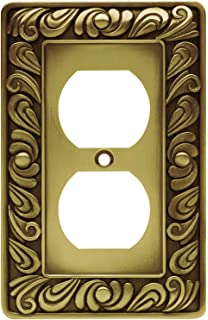 franklin brass paisley single duplex outlet wall plate switch plate cover tumbled