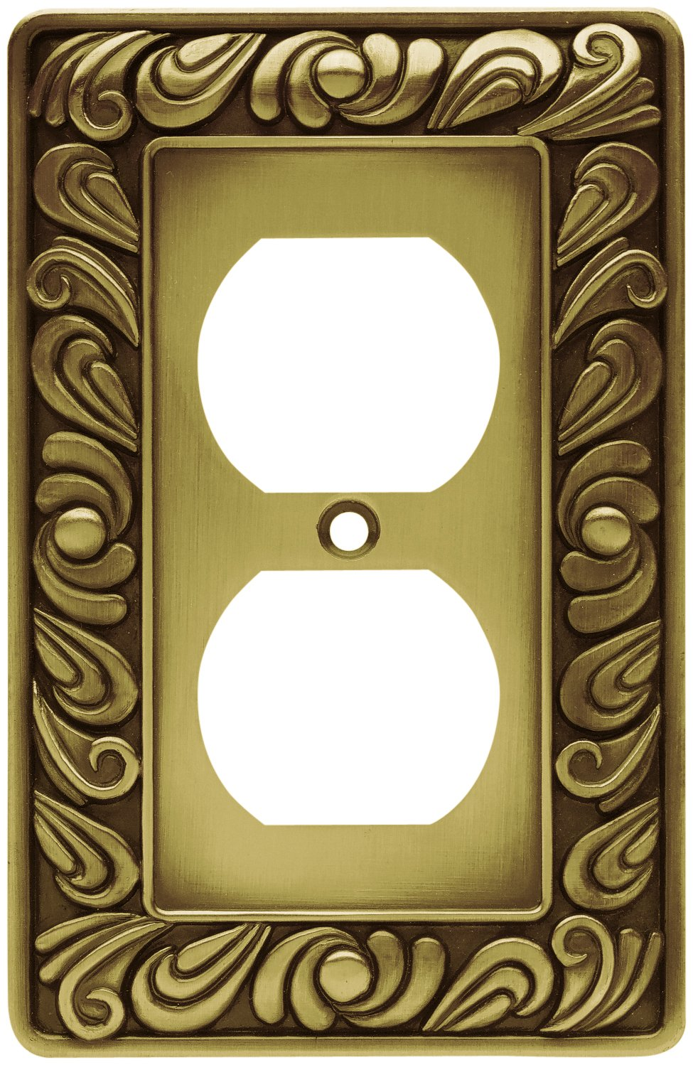 Franklin Brass 64045 Paisley Single Duplex Outlet Wall Plate ...