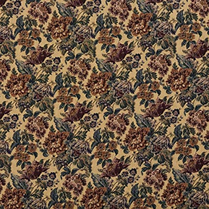 Amazon Com F672 Beige Green And Burgundy Vintage Floral Tapestry