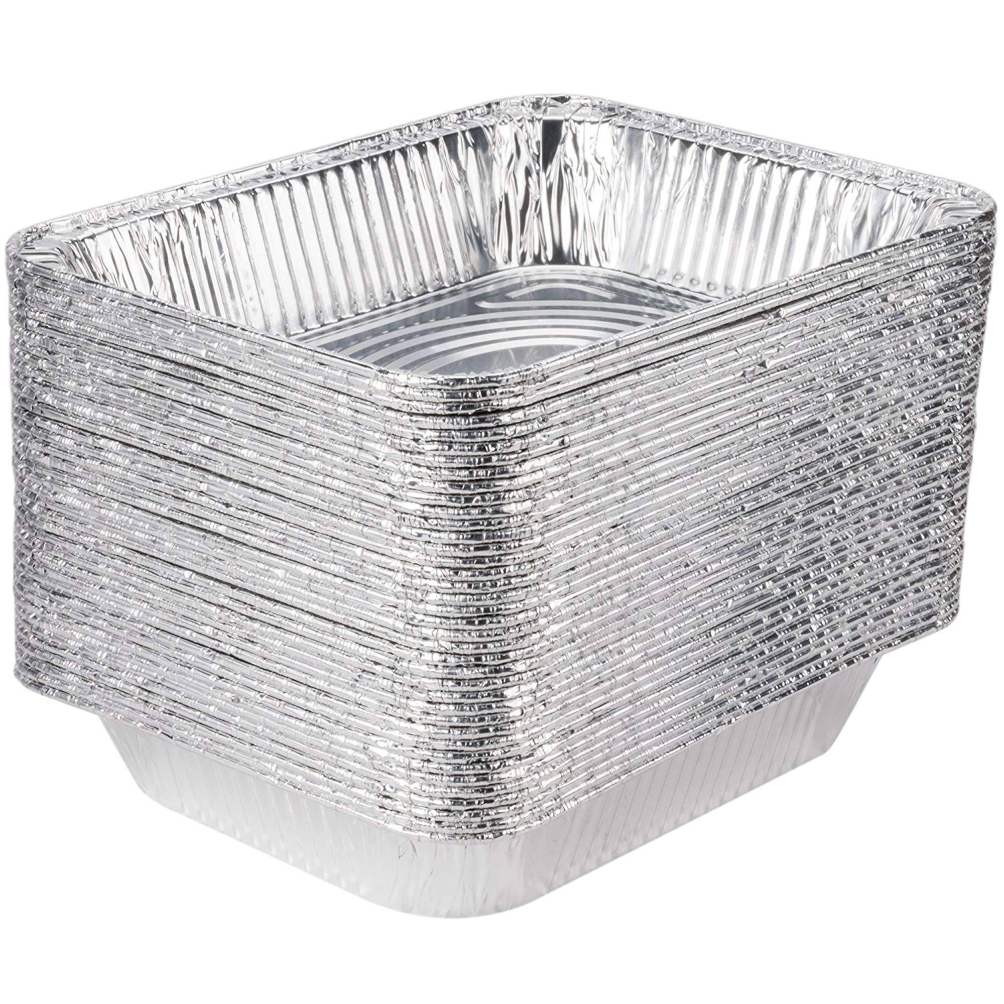 [30 Pack] 9 x 13 Aluminum Foil Pans Half Size Deep Steam Table Pans