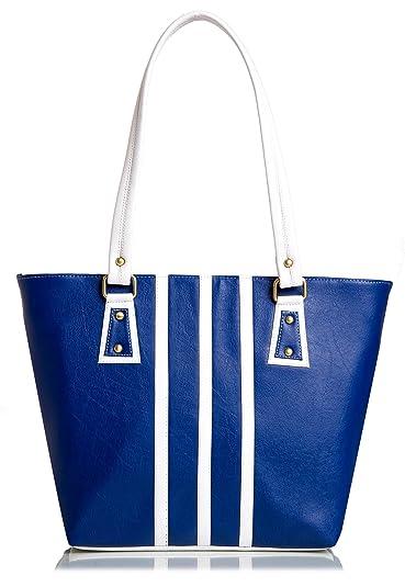 Mammon Women s Handbag (Blue White  7095b31eea