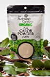 Organic Carob, Australian, True, Raw Carob Powder, Superfood (Milled without Heat/Not Brown/off-white in color) NON-GMO, World's #1 Best Tasting, Vegan, Carob, SharkBar, Organic, Carob, 7.05oz.