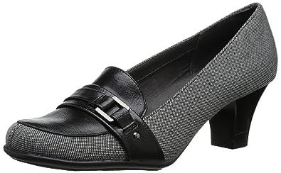 "A2 Aerosoles Heelrest Women's Pump Black Leather 2"" Heels 7 M Culinari"