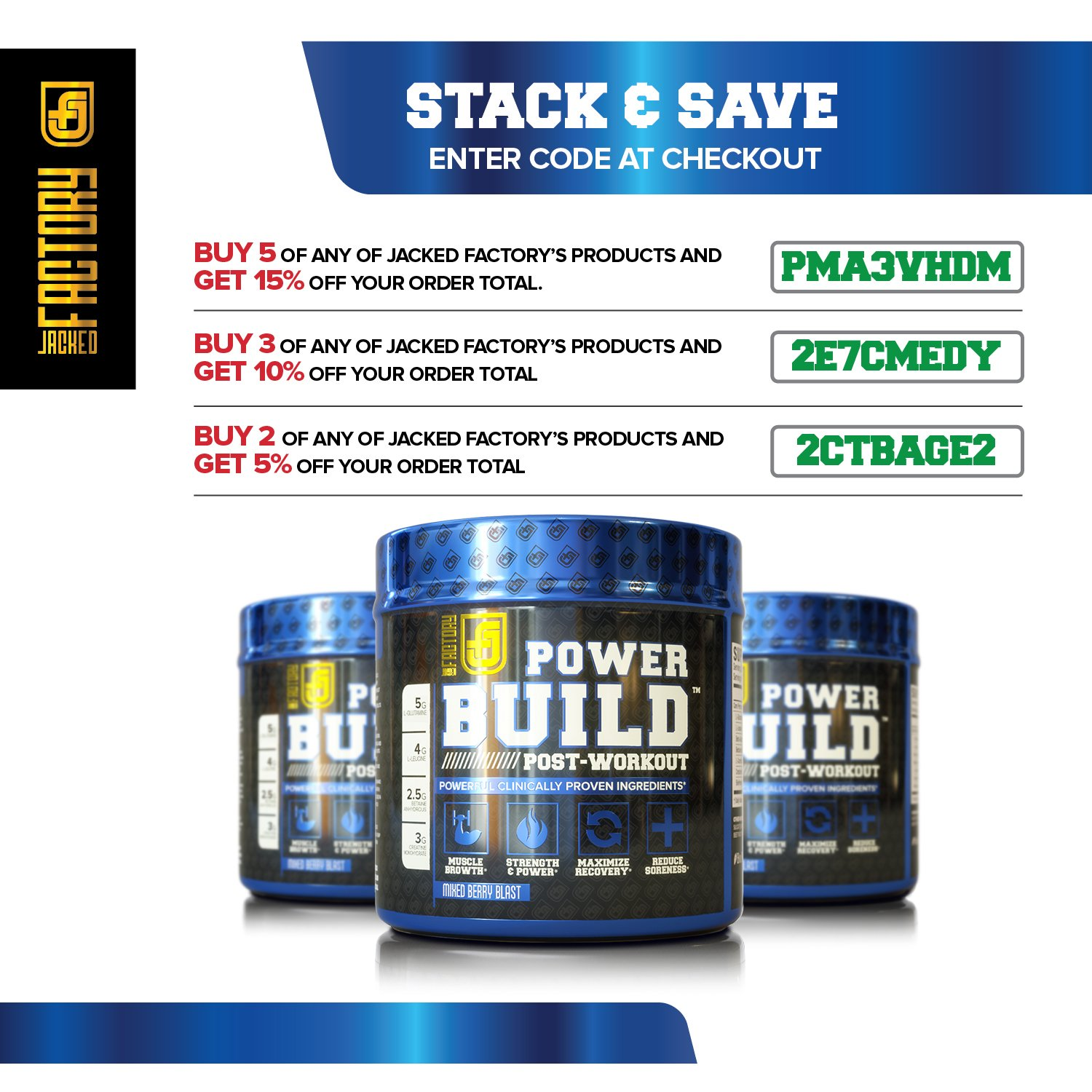 Pre order code recovery form - Amazon Com Powerbuild Clinically Dosed Post Workout Recovery Muscle Building Supplement Boost Muscle Growth Recovery Strength Creatine