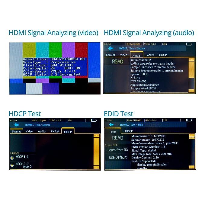 "gofanco Prophecy 4K 60HZ YUV 4:4:4 HDMI 2 0 Pattern Generator & Analyzer –  4 3"" Touch Panel, Battery Powered, HDR, HDMI 2 0a, HDCP 2 2, EDID Testing,"