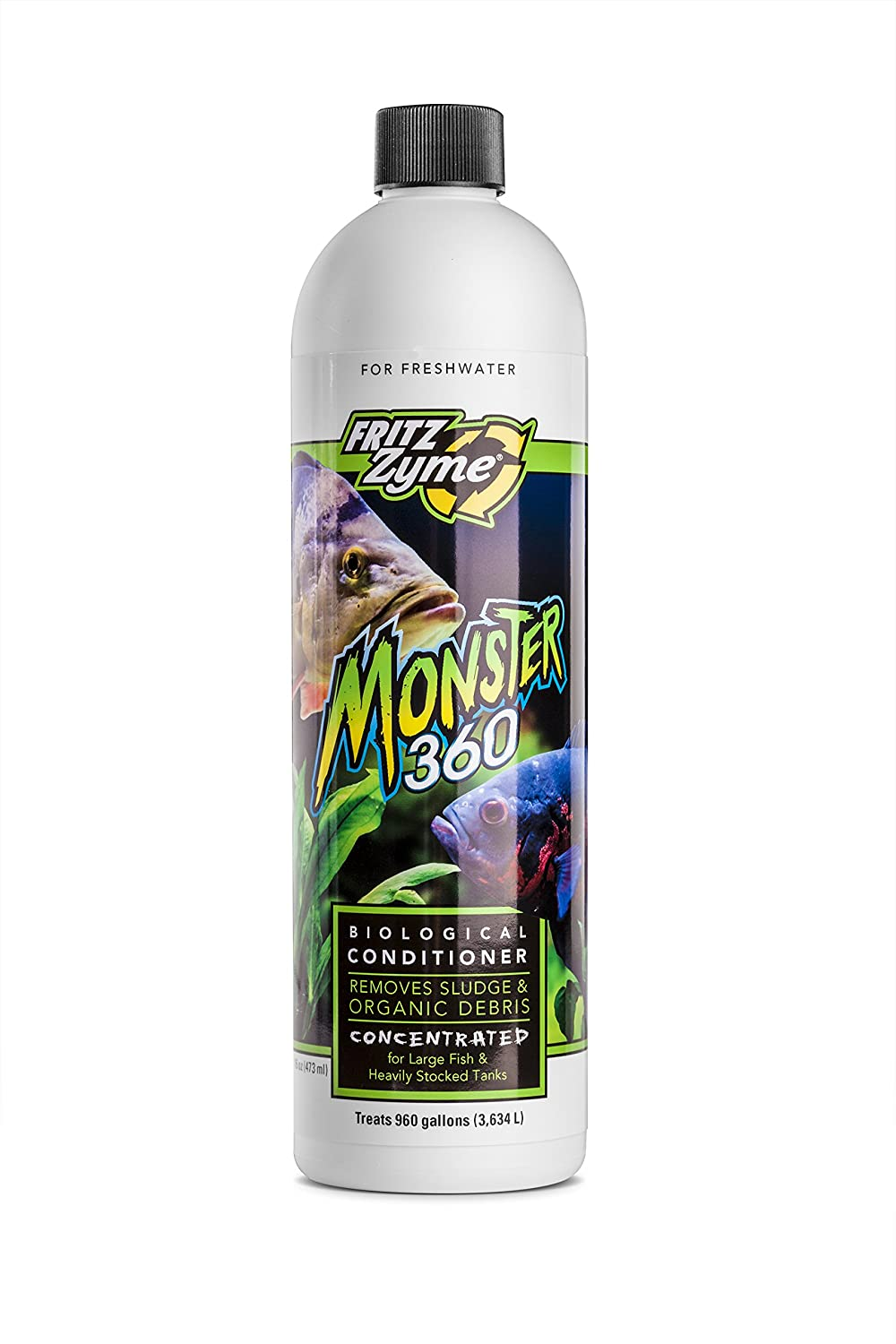 Fritzzyme MONSTER 360Concentrated Freshwater Biological Aquarium Cleaner16oz