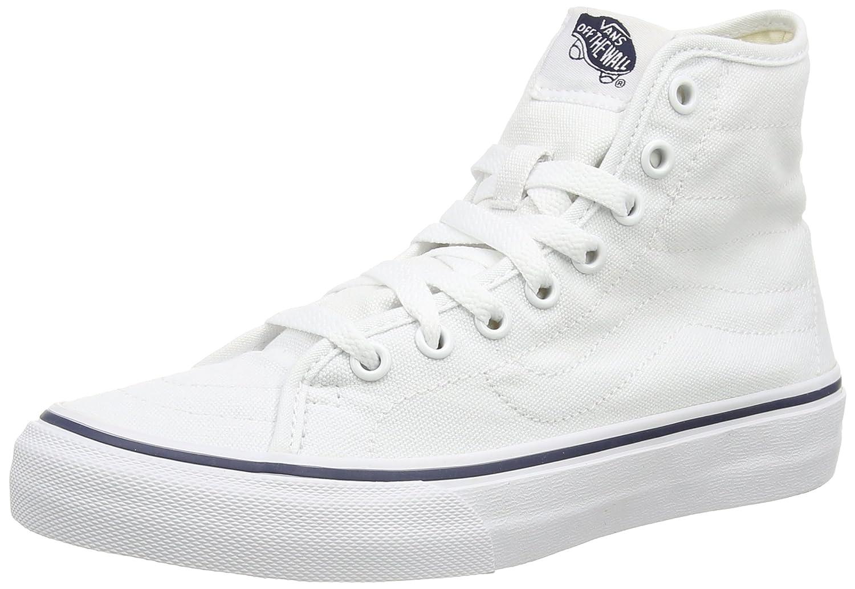 Vans U SK8-HI Unisex-Erwachsene Hohe Sneakers  39 EU|Wei? ((Canvas) True White/Dress Blues)