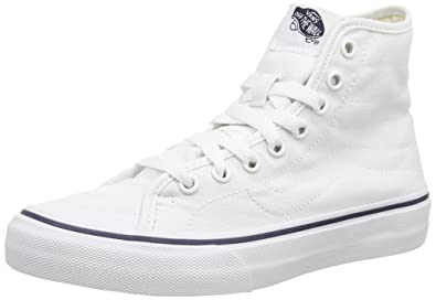 9ee49b7899 Image Unavailable. Image not available for. Color  Vans Canvas SK8-Hi Decon  Mens Skateboarding-Shoes VN-018HGF7 7 - True White