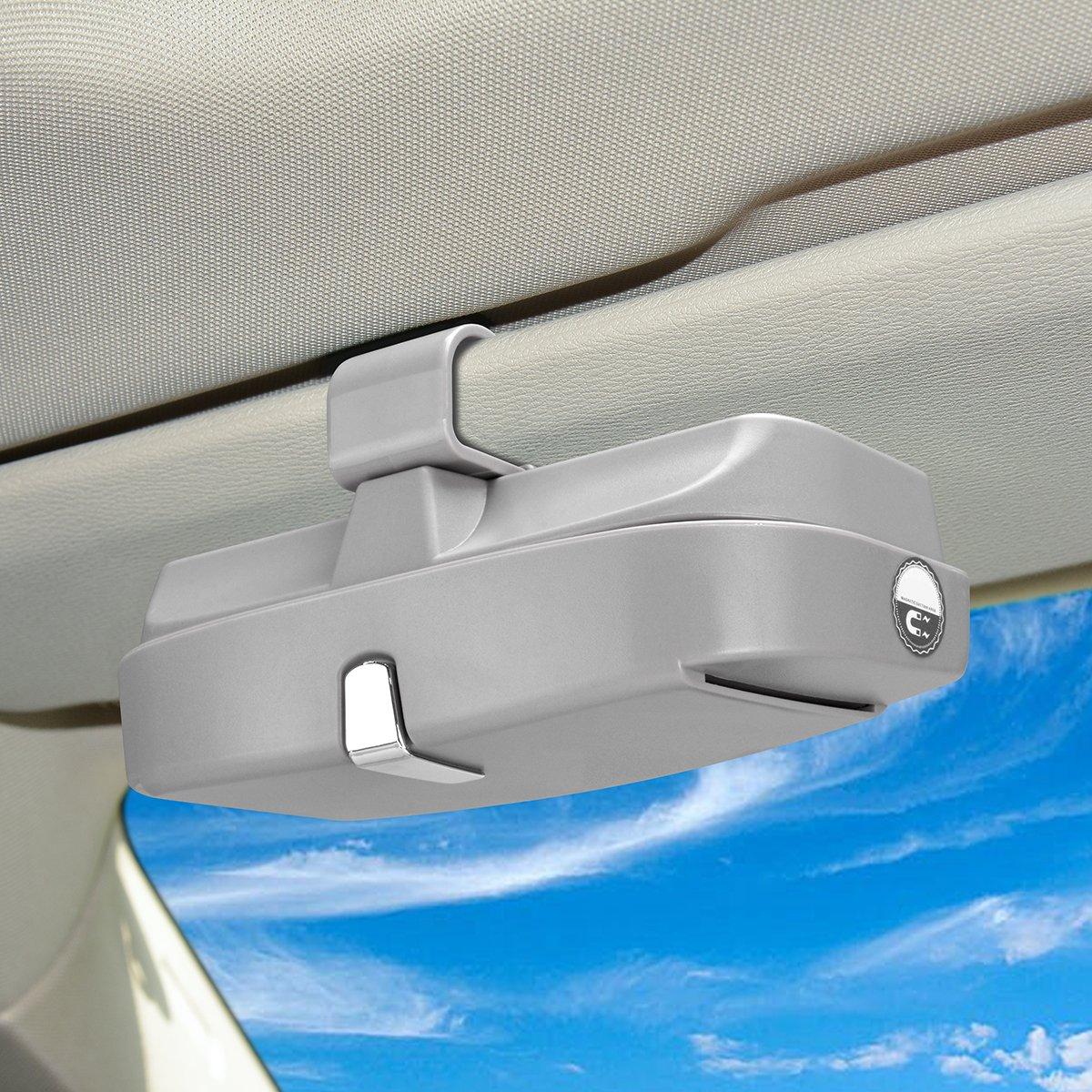 porta tessere multifunzione staffa per aletta parasole per auto Scatola per occhiali da sole per auto pratica portaocchiali da sole con pacchetto di protezione per castone