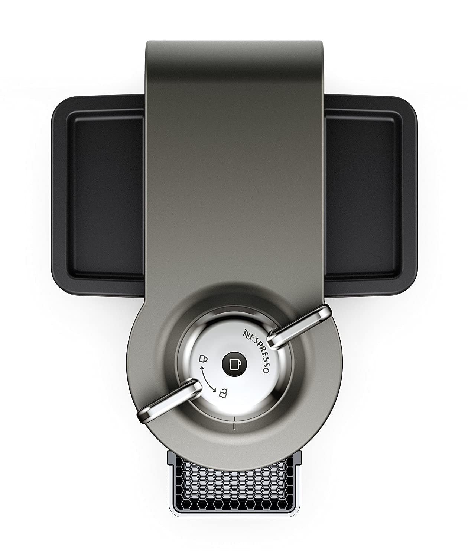 Graphite Metal Nespresso Vertuo Evoluo Coffee and Espresso Machine by DeLonghi