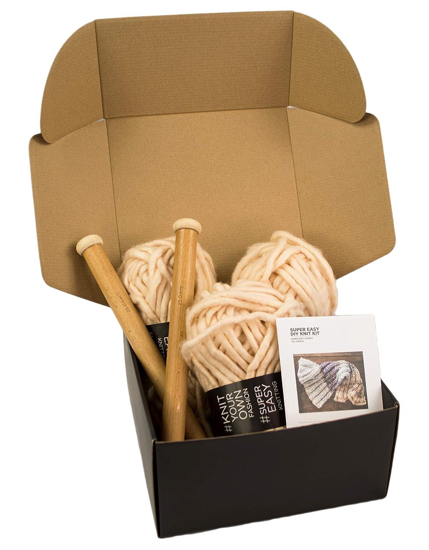 Dusty Pink Super Soft Thick Yarn Large Wood Knitting Needles Chunky Knit Blanket DIY Kit