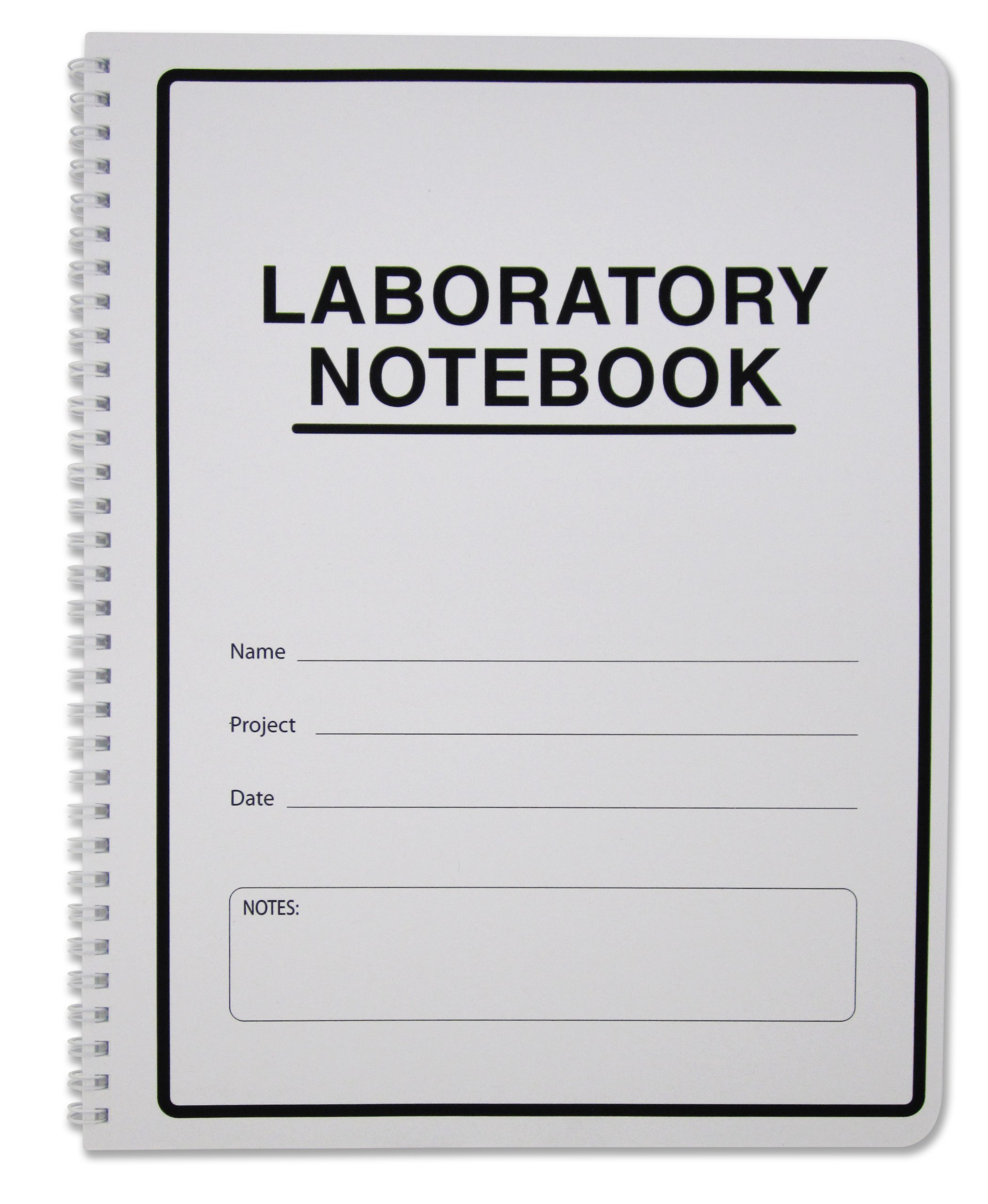 BookFactory Carbonless Lab Notebook/Laboratory Duplicator Book (Scientific Grid Format) - 8.5'' x 11''. 100 Sets of Pages, 200 Sheets Total [Wire-O Bound] (LAB-100-WTG-D)