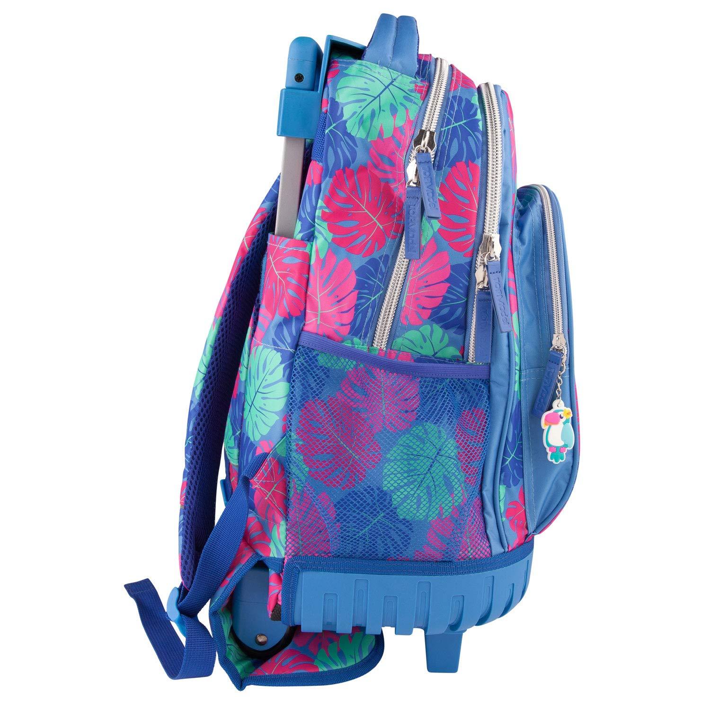 Depesche 10422 Mochila Escolar con Ruedas, TopModel Tropical, Azul, Aprox. 24 x 34 x 50 cm: Amazon.es: Juguetes y juegos