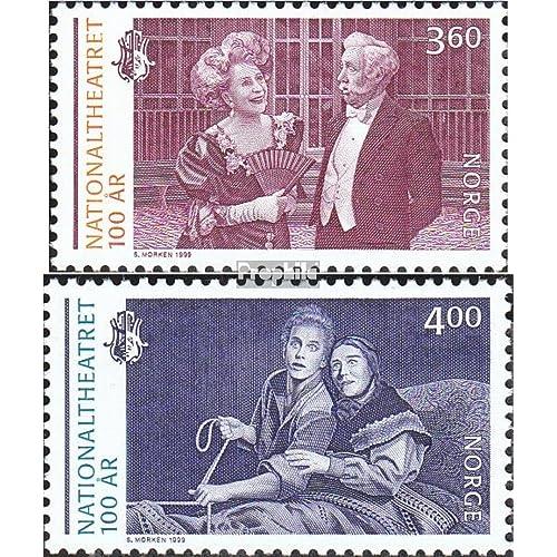 Norvège 1333-1334 (complète.Edition.) 1999 théâtre national (Timbres pour les collectionneurs)