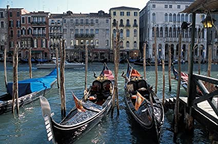 Gondolas On Grand Canal Venice Wallpaper Wall Mural Self