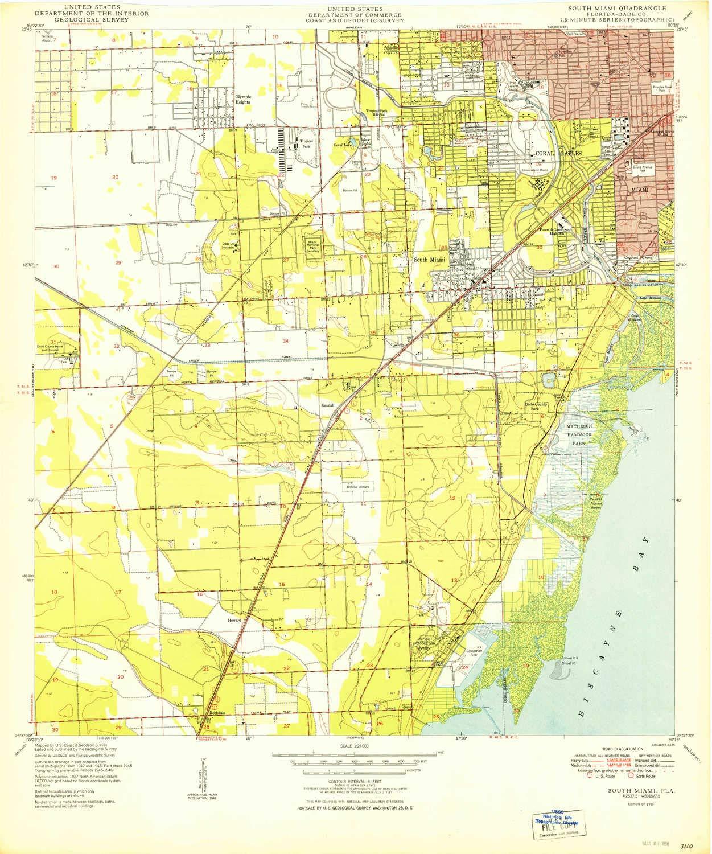 Amazoncom Yellowmaps South Miami Fl Topo Map 124000 Scale 75 - Miami-us-map