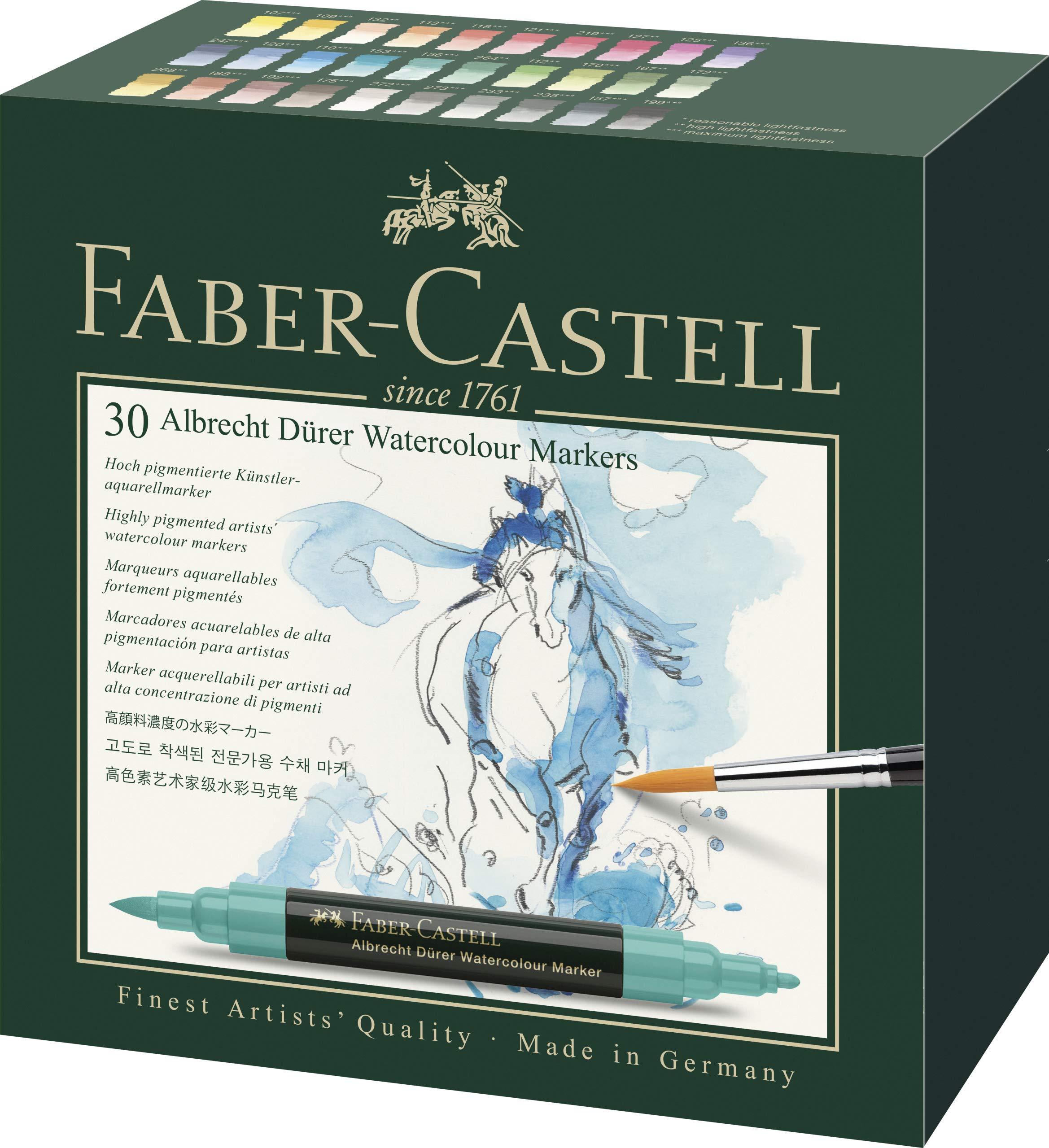 Faber-Castell Albrecht Durer Artists' Watercolor Markers - 30 Assorted Colors - Multipurpose Art Markers