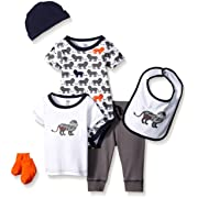 Yoga Sprout Baby 6 Piece Layette Set, Lion Collection, 0-3 Months (3M)