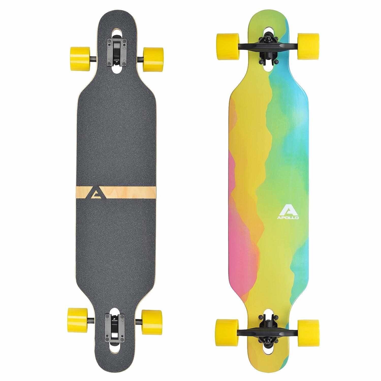 Apollo Longboard edición Especial Tabla Completa, con rodamientos de Bolas ABEC Alta velicidad, Drop-Through Freeride Skate Cruiser Boards: Amazon.es: ...