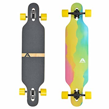 Apollo Longboard edición Especial Tabla Completa, con rodamientos de Bolas ABEC Alta velicidad, Drop-Through Freeride Skate Cruiser Boards: Amazon.es: ...