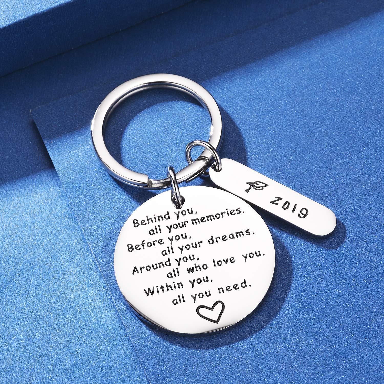 Porte-cl/és de remise de dipl/ôme CJ/&M derri/ère vous tous vos souvenirs avant vous tous vos r/êves Cadeau de remise de dipl/ôme cadeau inspirant pour fille gar/çon.