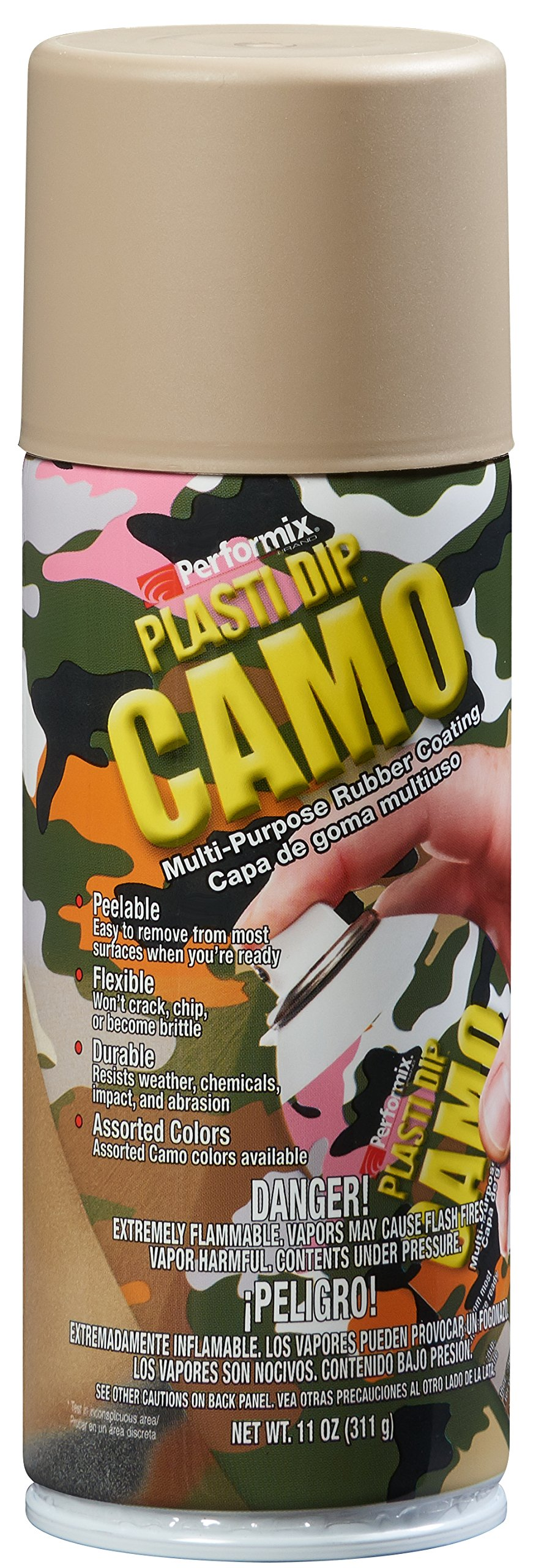 Plasti Dip Performix (11215-6-6PK) Tan Camo Spray - 11 oz. Aerosol, (Pack of 6)
