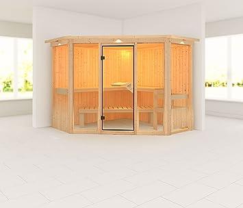 Vegetación 2 - Karibu Sauna sin estufa - con soffit-: Amazon.es: Bricolaje y herramientas