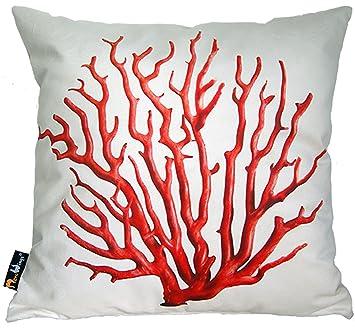 Amazon.com: Coral cojín de color: crema: Home & Kitchen