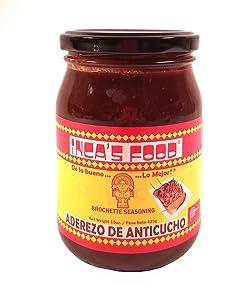 Inca's Food Aderezo De Anticucho/brochette Seasoning 15oz (Single Jar) - Product of Peru