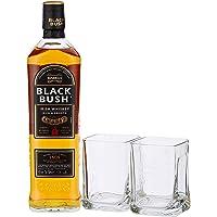 Bushmills Black Bush Irish Whisky Rock Glass Pack
