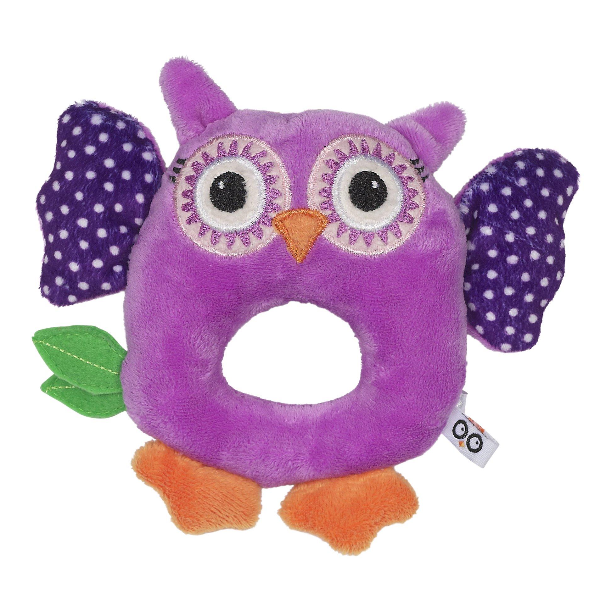 Baby Buddy Rattle - Owl/Purple