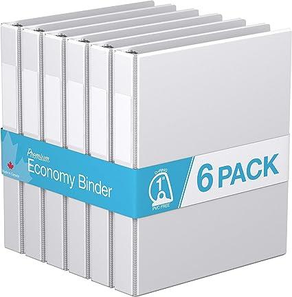 1.5, Royal Blue Angle D Ring 6 Pack Premium Economy Binder