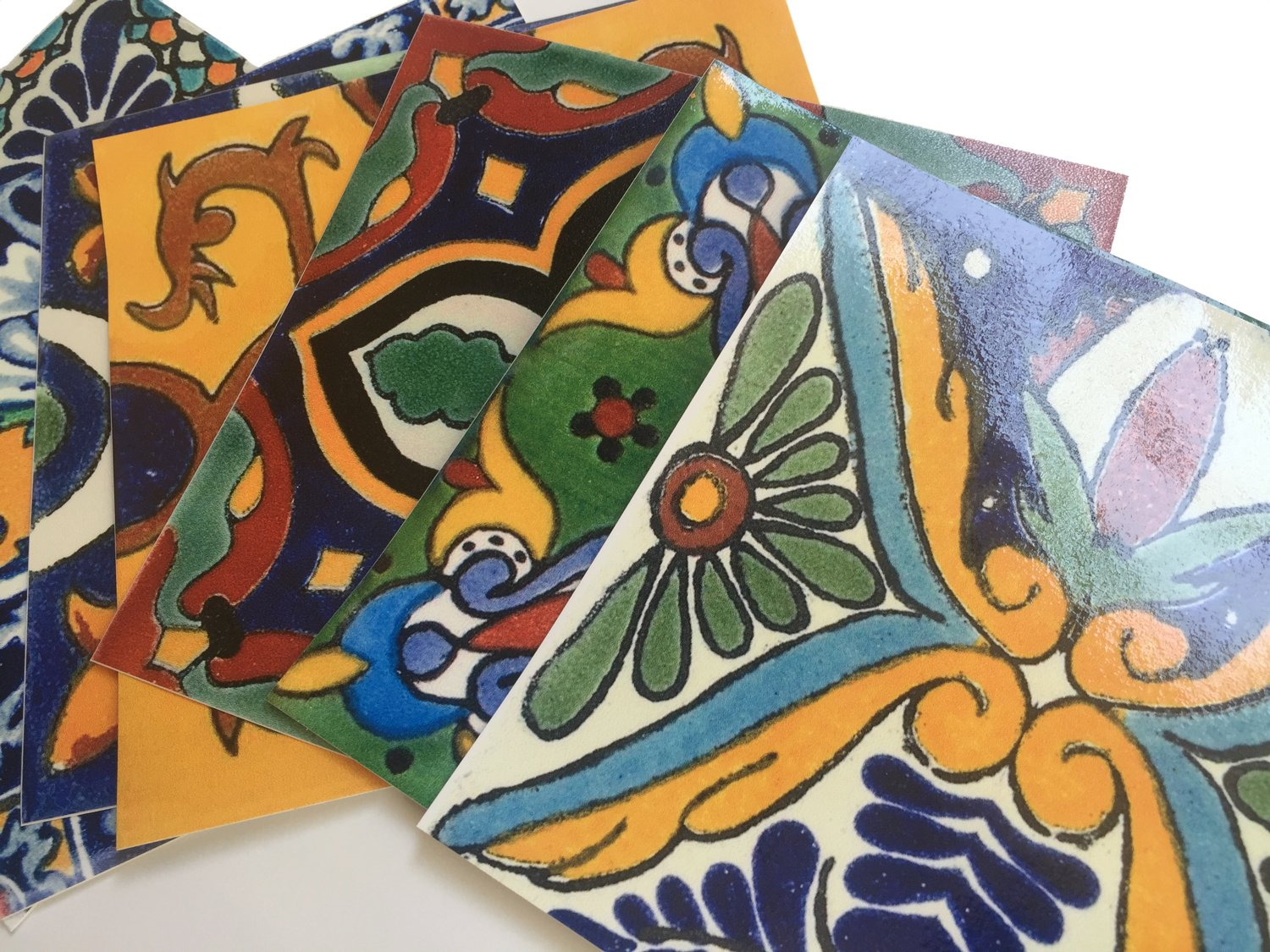 Tile Stickers Mexican Spanish 40pc 4-1/4in Peel and Stick for kitchen and bath Tr002-4Q by SnazzyDecal (Image #6)