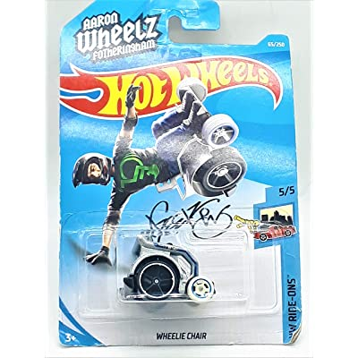 Hot Wheels 2020 HW Ride-Ons Wheelie Chair (Aaron Wheels Fotheringham) 65/250, Silver: Toys & Games