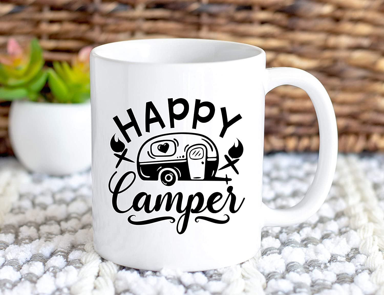 Camping Mug - Happy Camper - Glamping - Camp Mug - Adventure ...