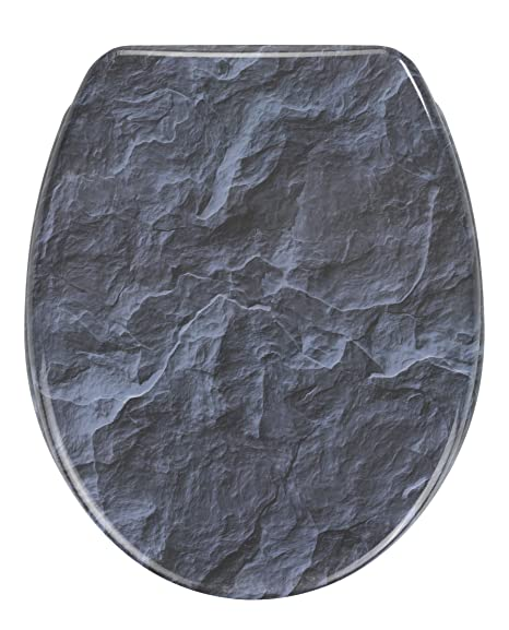 dark grey toilet seat. Wenko  quot Slate Rock Toilet Seat Dark Blue Amazon co uk Kitchen Home