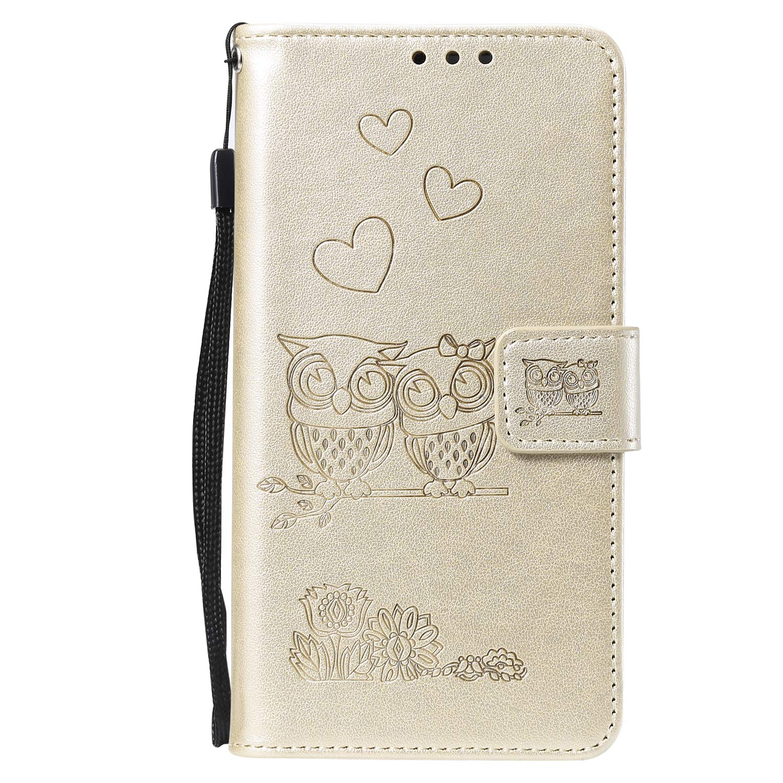 NEHHA100411 Rosa Rot Handyh/ülle Tasche Leder Flip Case Brieftasche Etui mit Kartenfach Sto/ßfest Kratzfest Schutzh/ülle f/ür Samsung Galaxy A50 NEXCURIO Galaxy A50 H/ülle Leder