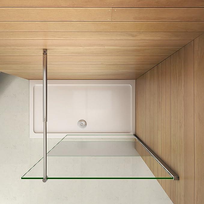 Pantalla Panel Fijo Cristal 8mm vidrio esmerilado Mate Parcial ...