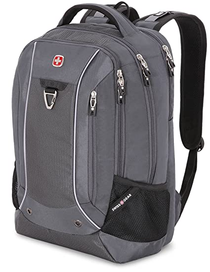 40c85ea12 Amazon.com: SwissGear 18.5 Scan Smart TSA Laptop Backpack - Grey: Computers  & Accessories